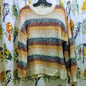 Madewell Rainbow Cable Knit Sweater